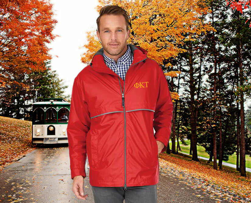 Phi Kappa Tau Men's New Englander® Rain Jacket