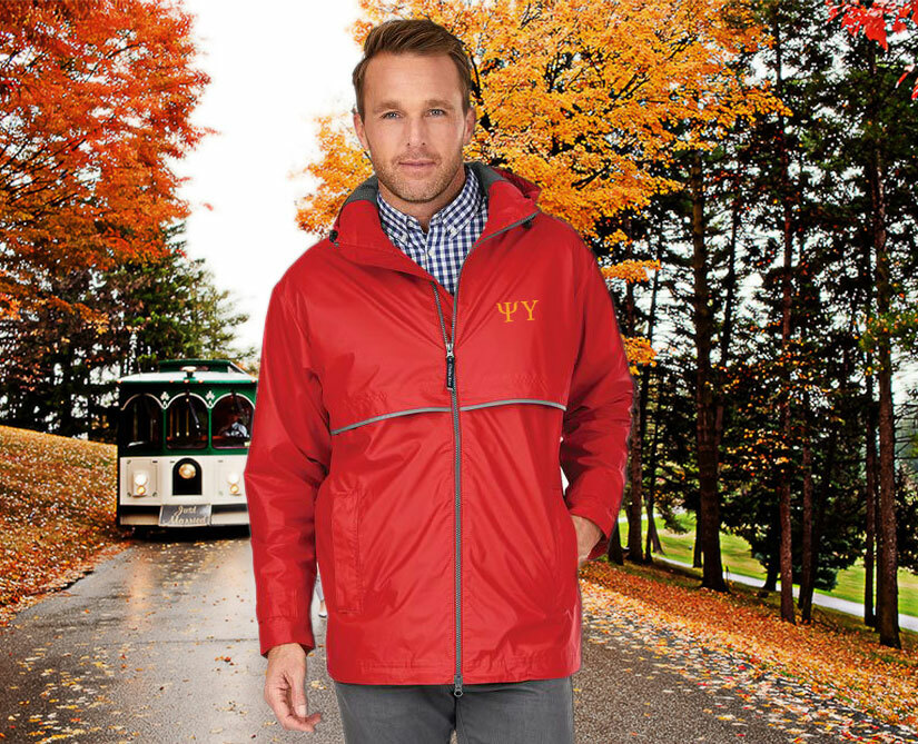 Psi Upsilon Men's New Englander® Rain Jacket