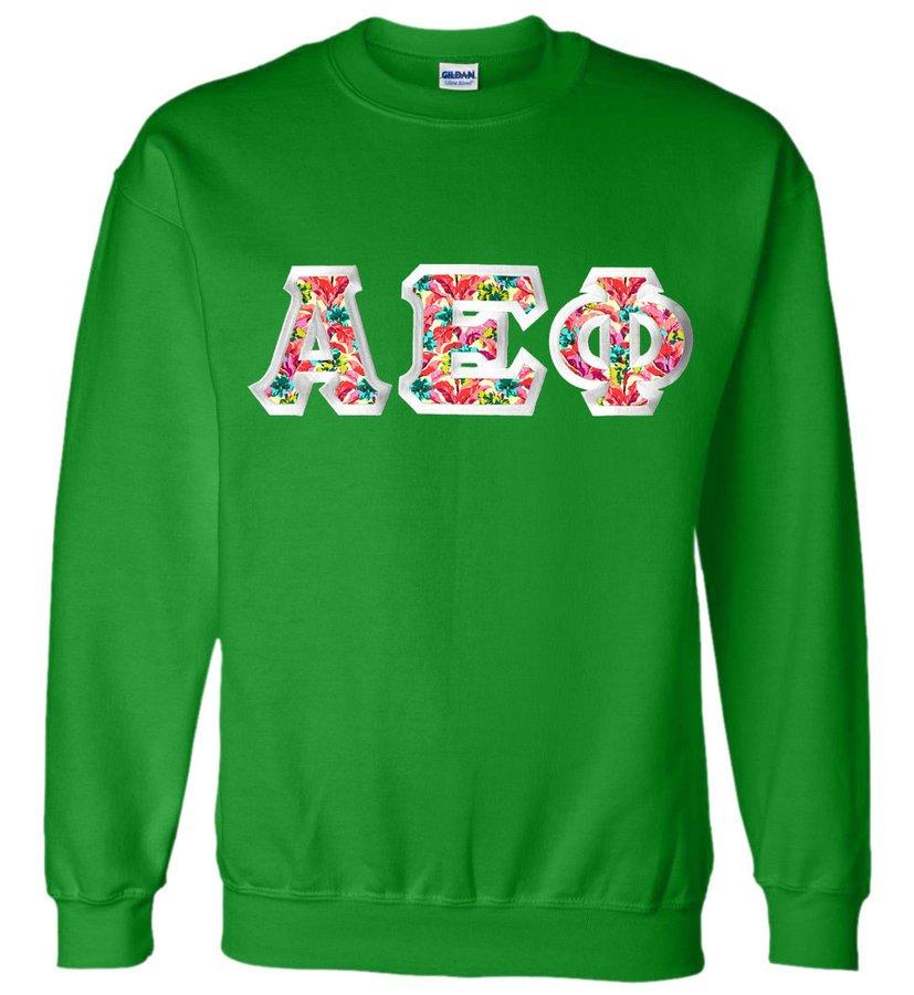 $25 Alpha Epsilon Phi Custom Twill Sweatshirt