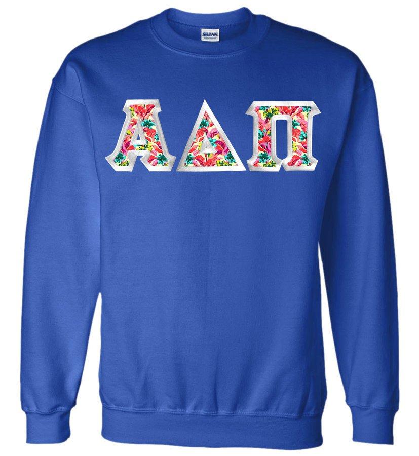 DISCOUNT - Fraternity & Sorority Custom Satin Stitch Crewneck Sweatshirt