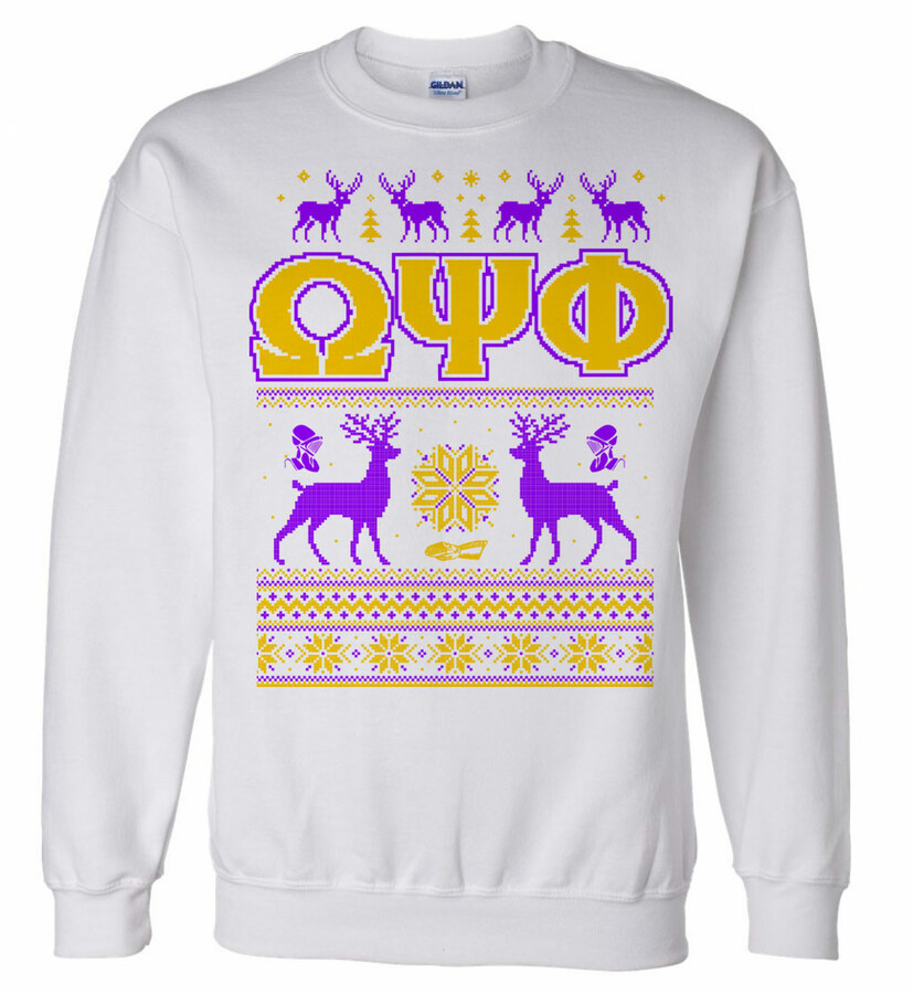 Omega Psi Phi Ugly Christmas Sweater Crewneck Sweatshirt