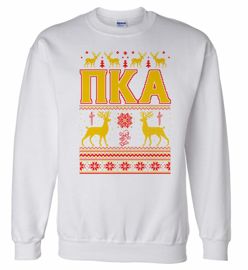 Pi Kappa Alpha Ugly Christmas Sweater Crewneck Sweatshirt