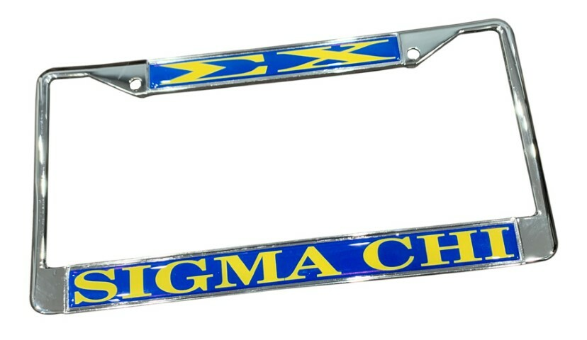 Sigma Chi License Plate Frame