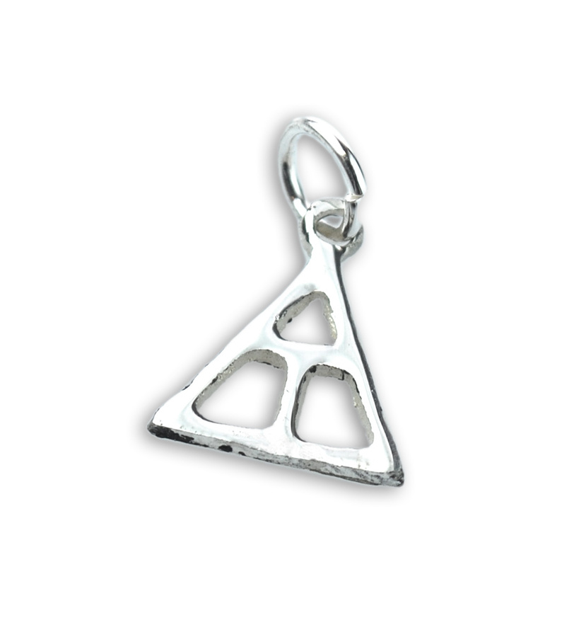 Triangle Fraternity Silver Lavalier Drop