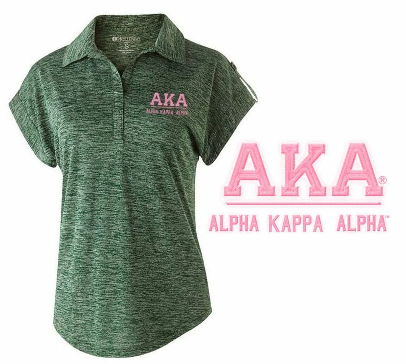 Alpha Kappa Alpha Greek Letter Electrify Polo