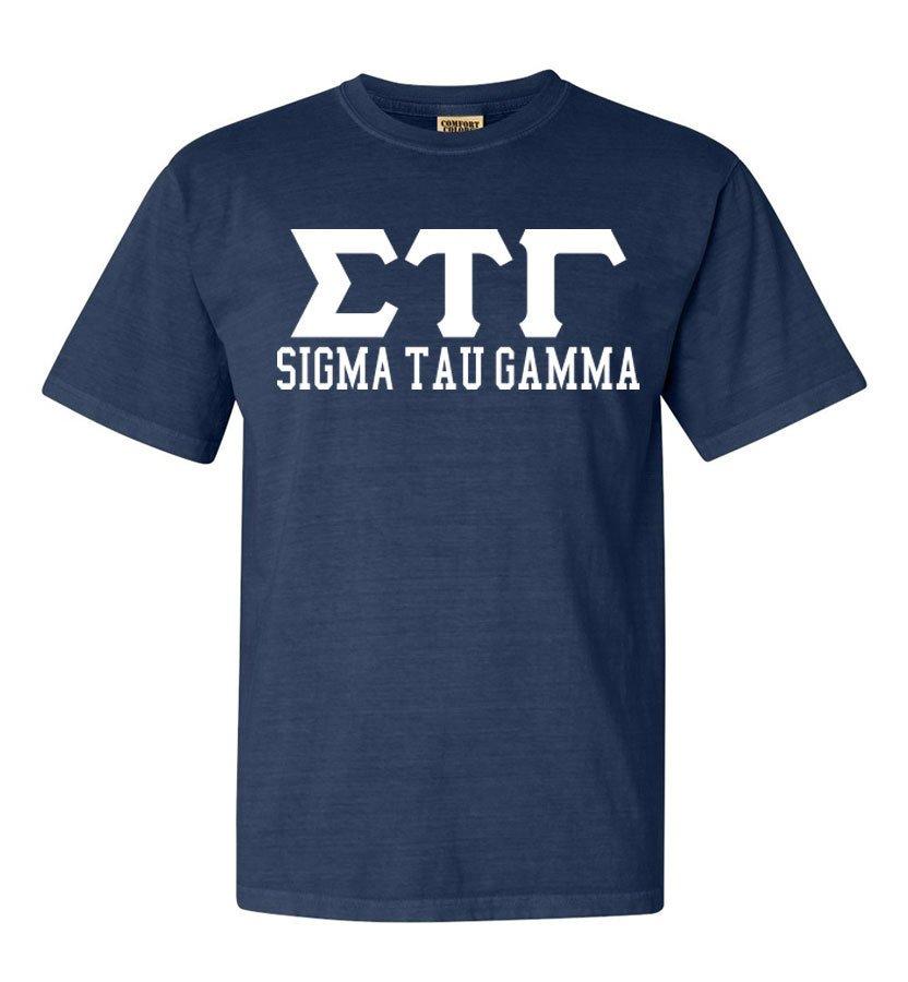 Sigma Tau Gamma Greek Custom Comfort Colors Heavyweight T-Shirt