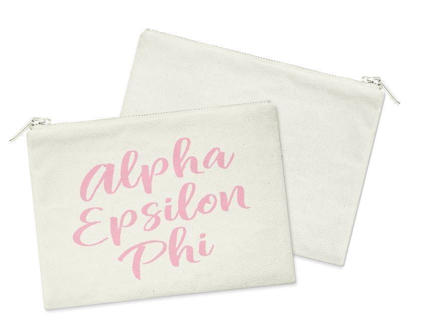 Alpha Epsilon Phi Script Cosmetic Bag