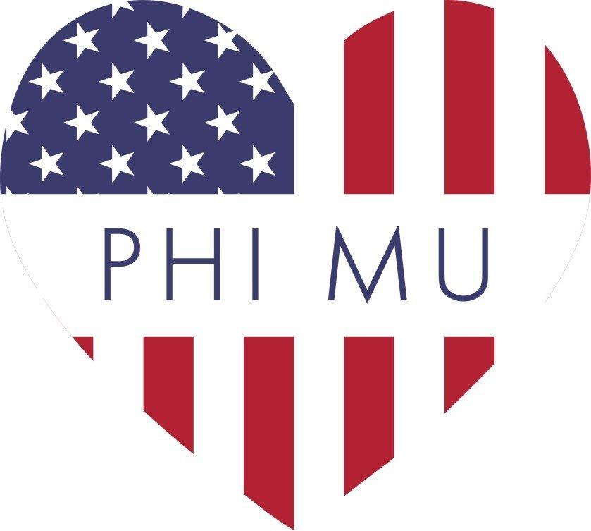 Sorority Heart Shaped USA Sticker