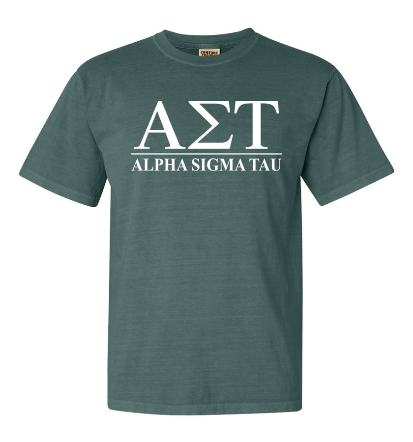 Alpha Sigma Tau Comfort Colors Heavyweight T-Shirt