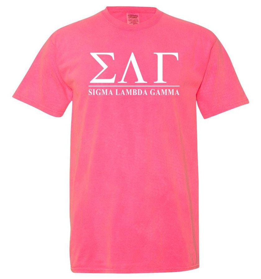 Sigma Lambda Gamma Comfort Colors Heavyweight T-Shirt