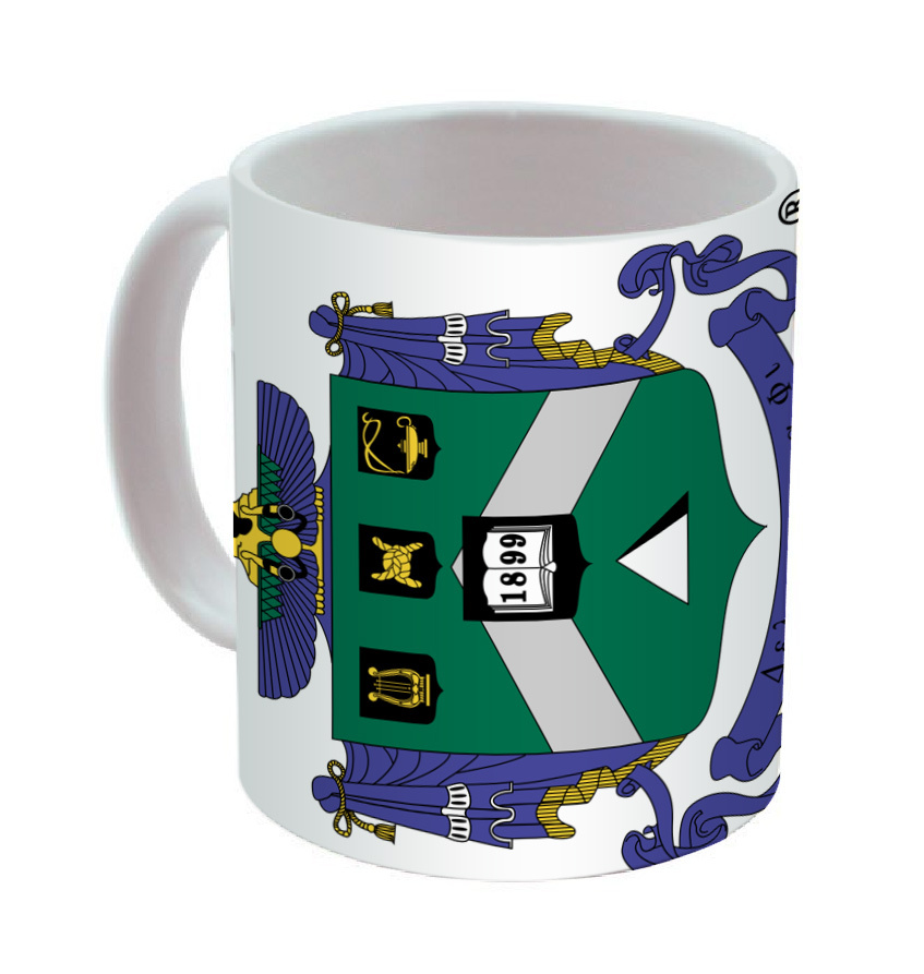 Delta Sigma Phi Mega Crest Coffee Mug