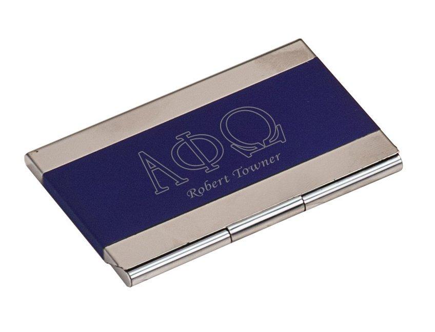 Alpha Phi Omega Business Card Holder