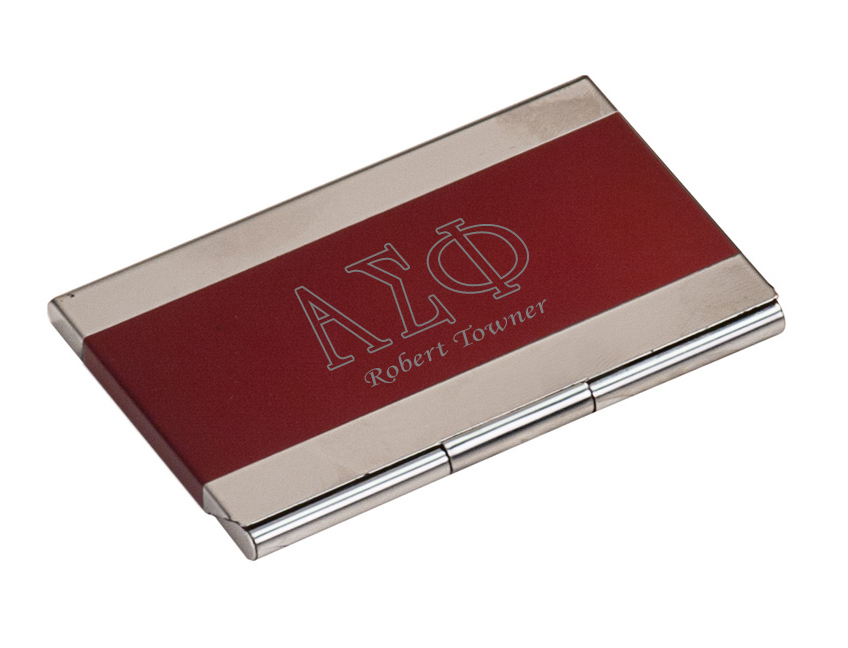 Greek Lettered Business Card Holder