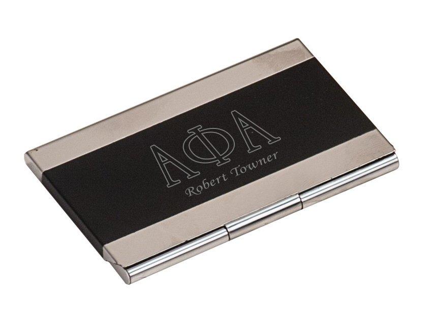 Greek Lettered Business Card Holder