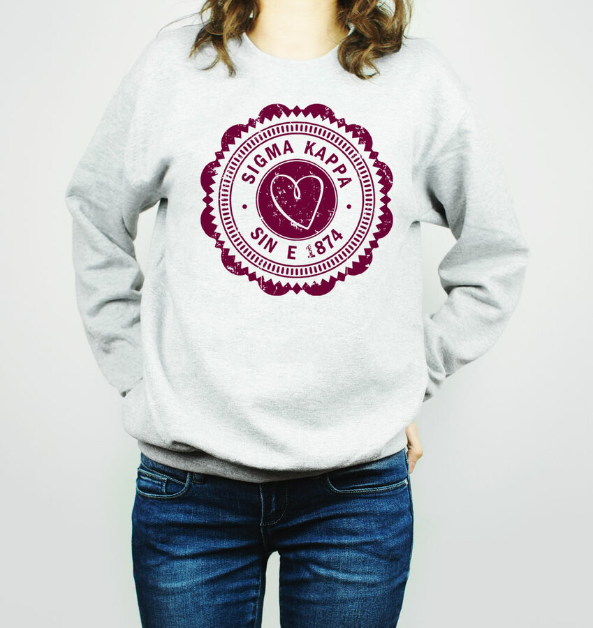 Sigma Kappa Seal Crewneck Sweatshirt