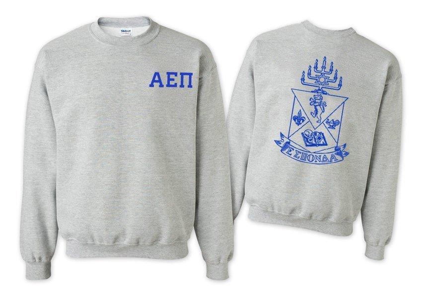 Alpha Epsilon Pi World Famous Crest - Shield Crewneck Sweatshirt- $25!