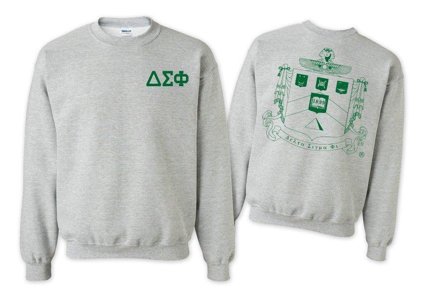 Delta Sigma Phi World Famous Crest - Shield Printed Crewneck Sweatshirt- $25!