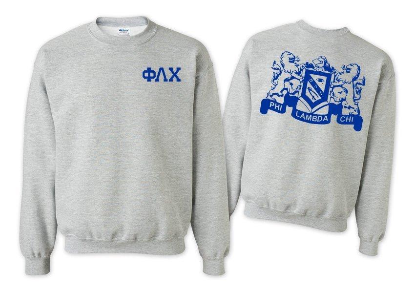 Phi Lambda Chi World Famous Crest - Shield Printed Crewneck Sweatshirt- $25!