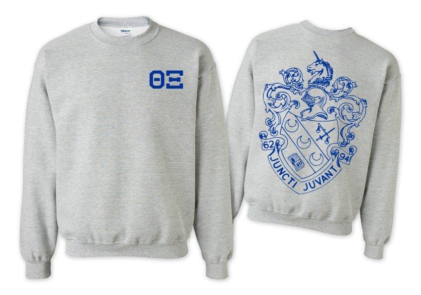 Theta Xi World Famous Crest - Shield Printed Crewneck Sweatshirt- $25!