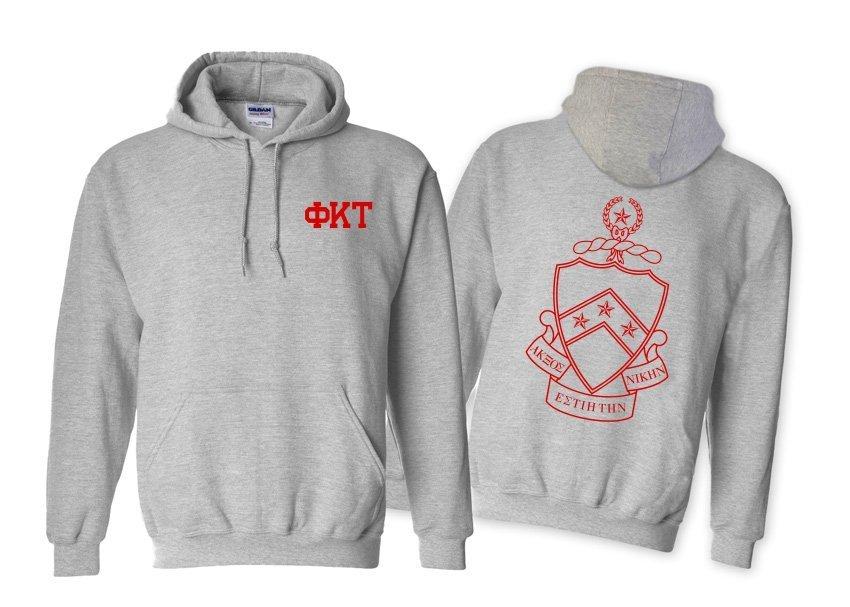 Phi Kappa Tau World Famous Crest - Shield Hooded Sweatshirt- $35!