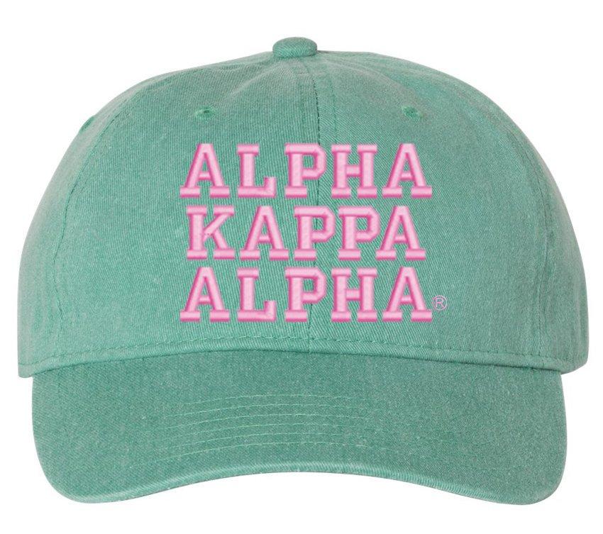Alpha Kappa Alpha Comfort Colors Pigment Dyed Baseball Cap