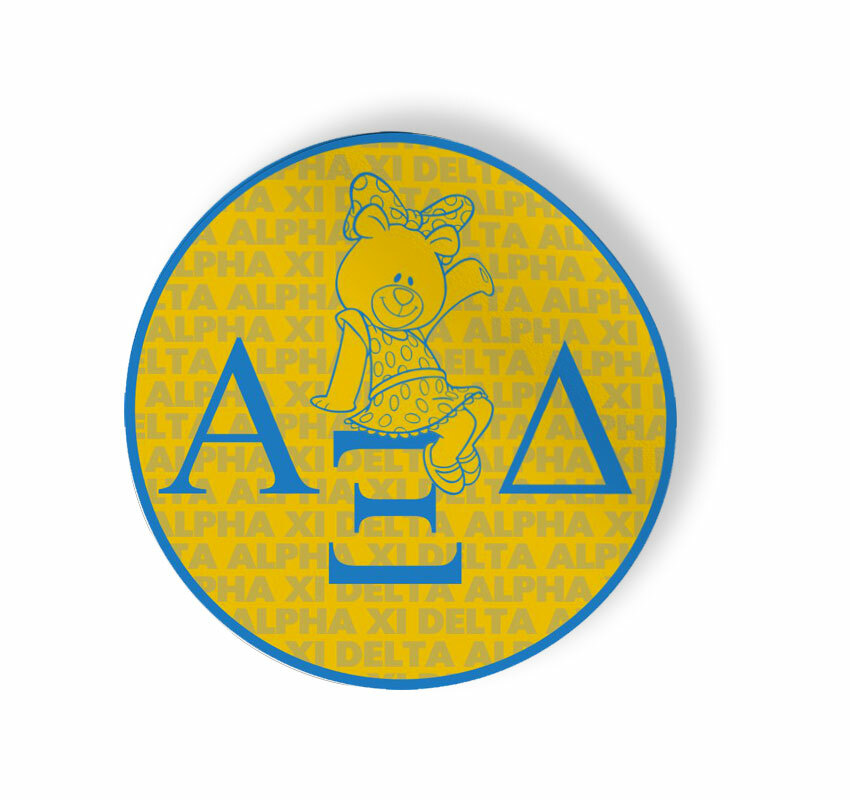 Alpha Xi Delta Mascot Round Decals