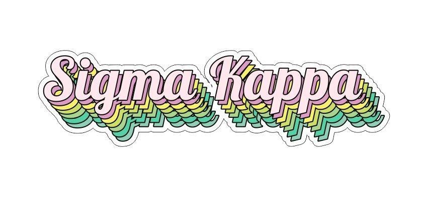 Sigma Kappa Step Decal Sticker