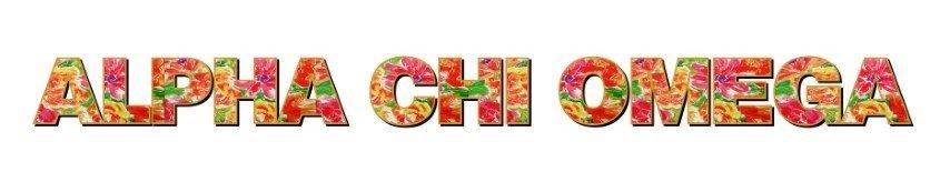 "Alpha Chi Omega Floral Long Window Sticker - 15"" long"