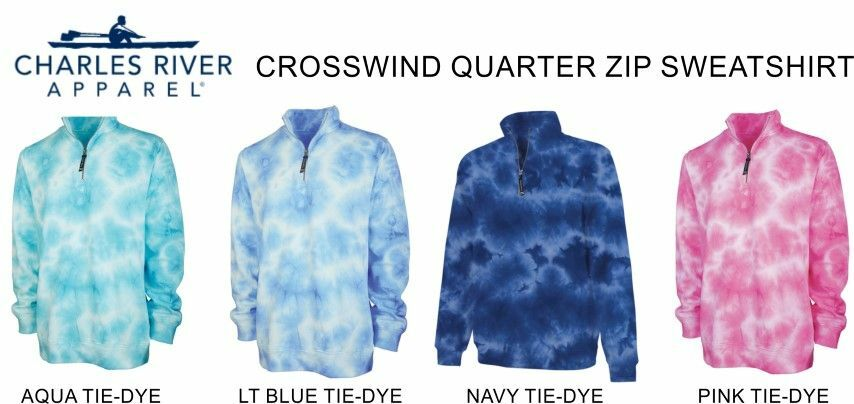 Greek Crosswind Tie-Dye Quarter Zip Sweatshirt