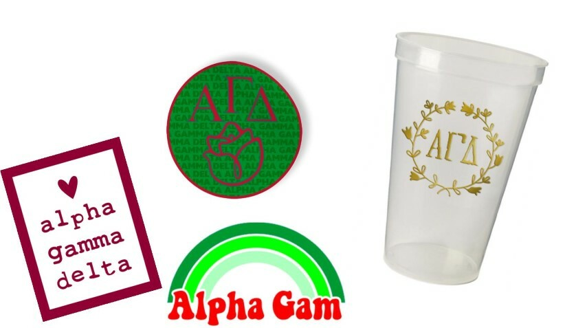 Alpha Gamma Delta Sorority Large Pack $15.00