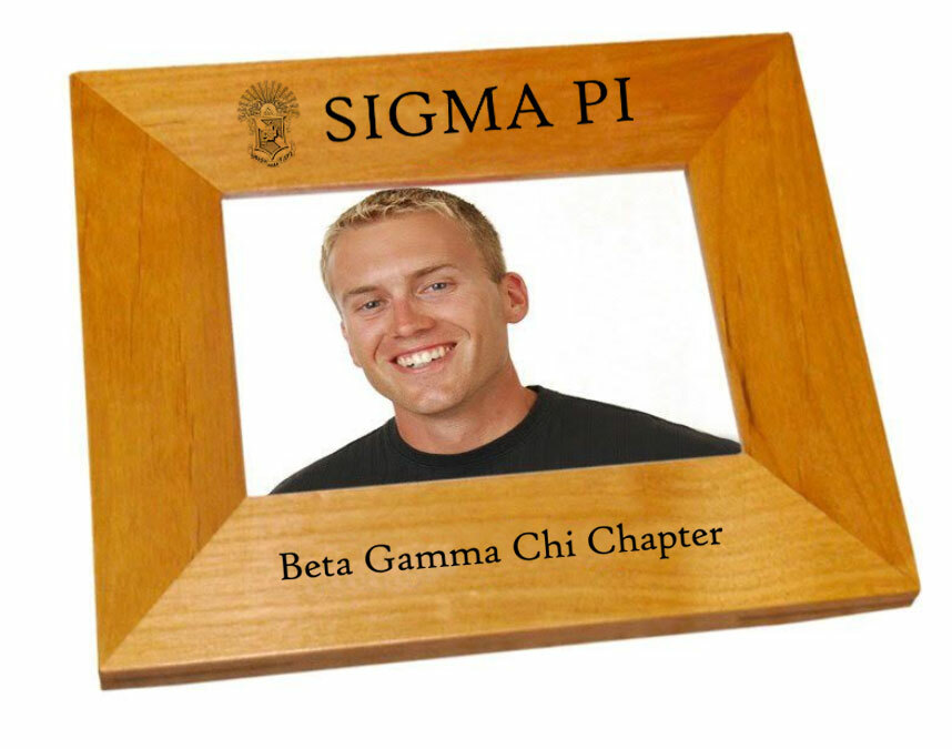 "Sigma Pi 4"" x 6"" Crest Picture Frame"