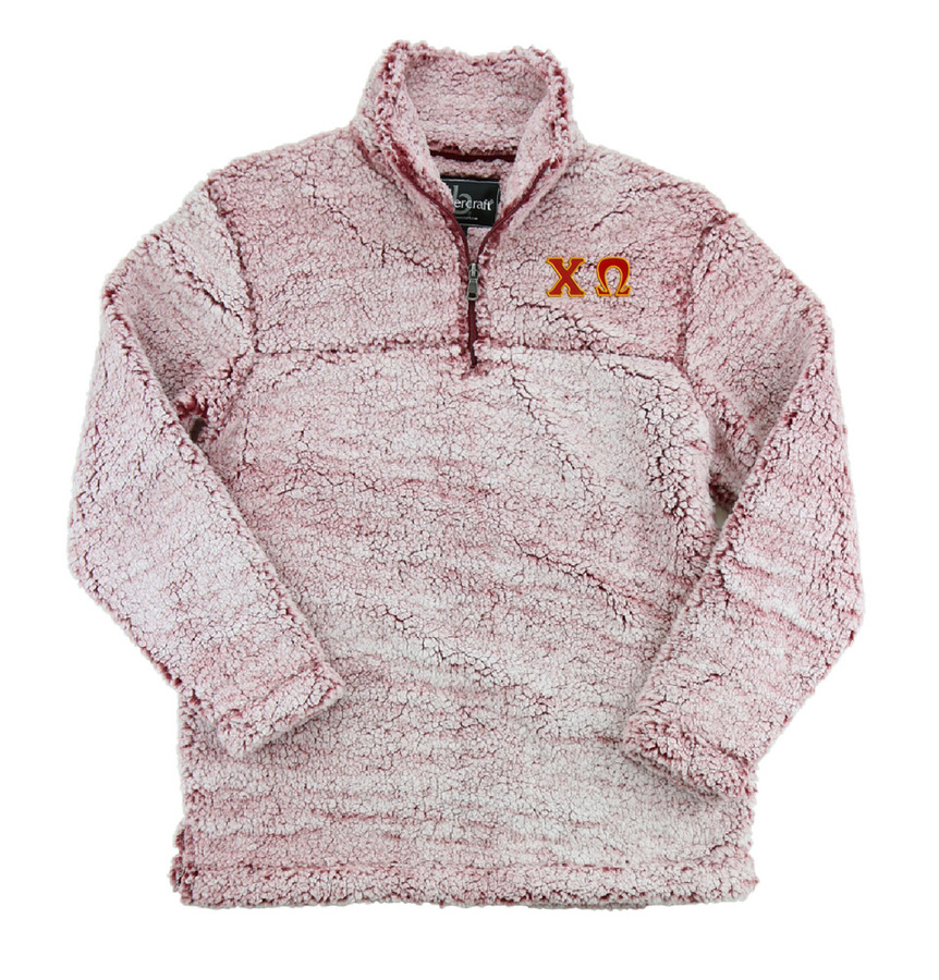 Chi Omega Sherpa Quarter Zip Pullover