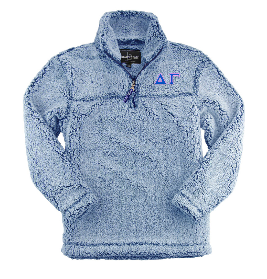 Delta Gamma Sherpa Quarter Zip Pullover