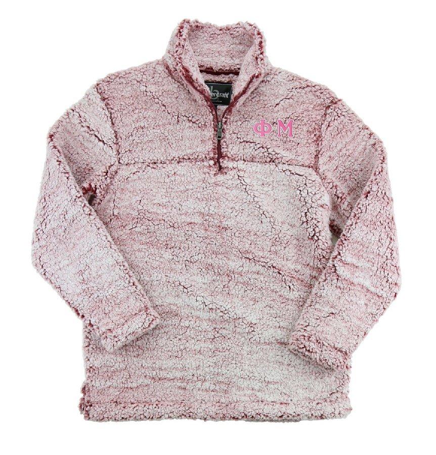 Phi Mu Sherpa Quarter Zip Pullover
