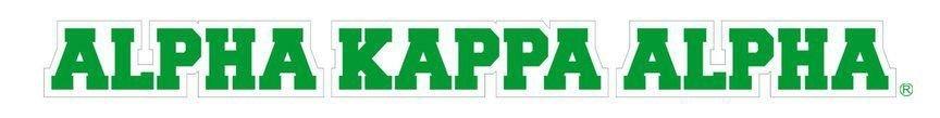 Alpha Kappa Alpha Long Window Sticker