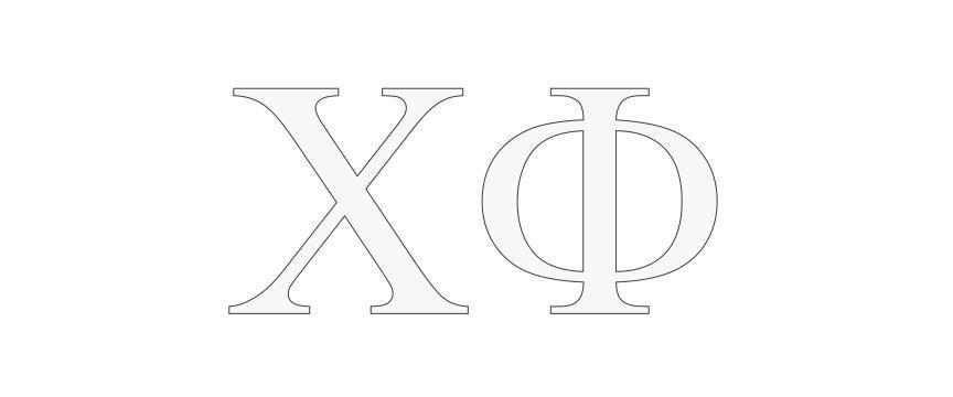 Chi Phi Greek Letter Window Sticker Decal