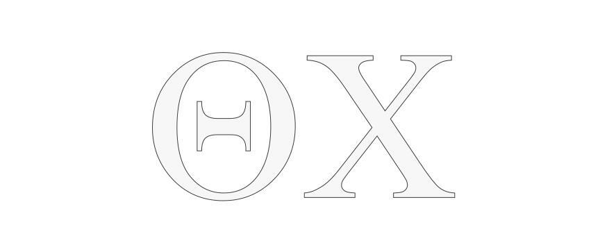 Theta Chi Greek Letter Window Sticker Decal