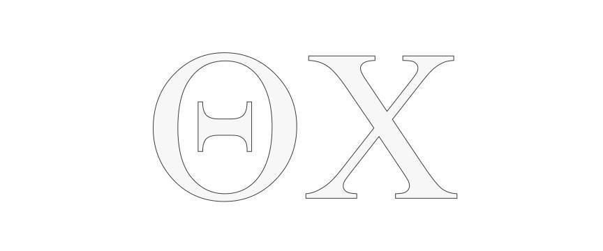 Theta Chi Greek Letter Window Sticker Decal