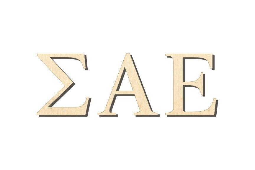 Sigma Alpha Epsilon Big Wooden Greek Letters