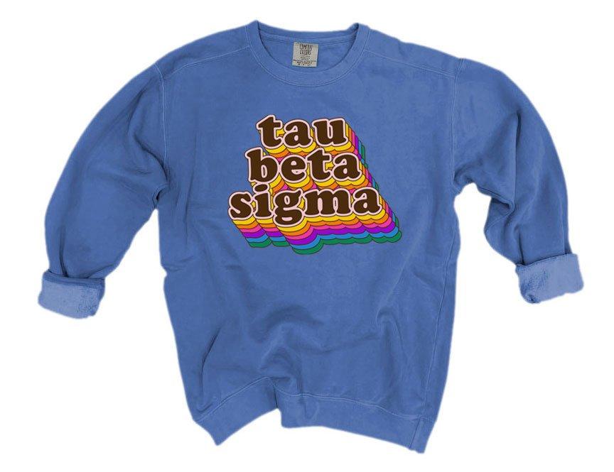 Tau Beta Sigma Retro Maya Comfort Colors Crewneck Sweatshirt