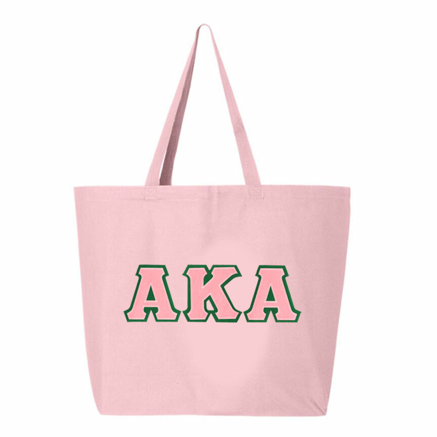 Big Canvas Sorority Tote Bags