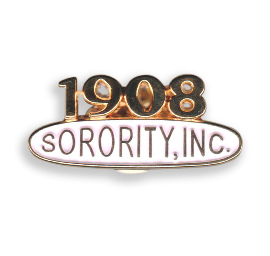 AKA 1908 Sorority Pin