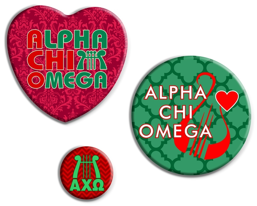 Alpha Chi Omega Button Set