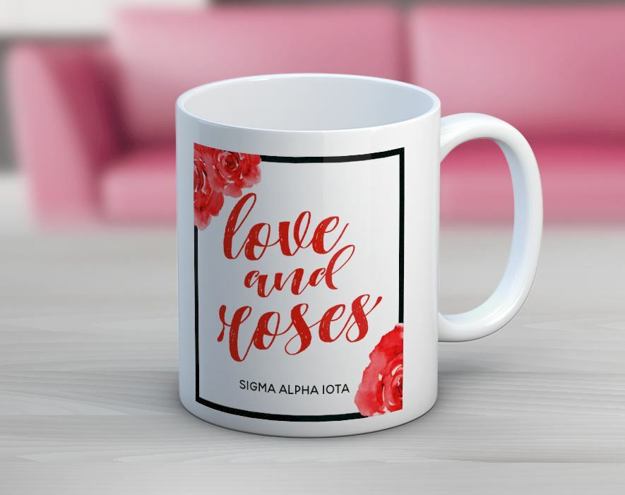 Sigma Alpha Iota Floral Motto Coffee Mug