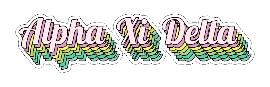 Alpha Xi Delta Step Decal Sticker