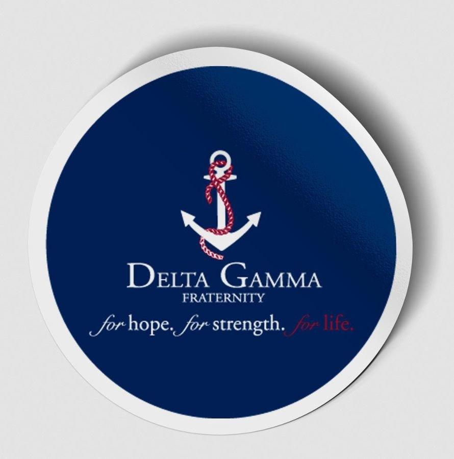Delta Gamma Logo Round Decal