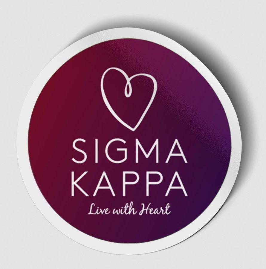 Sigma Kappa Logo Round Decal