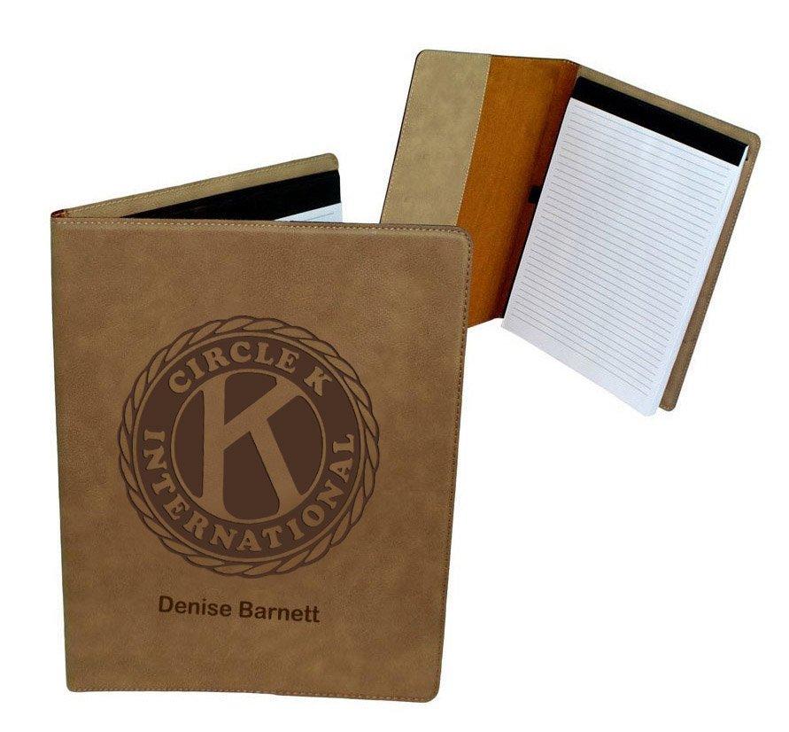 Circle K Leatherette Portfolio with Notepad