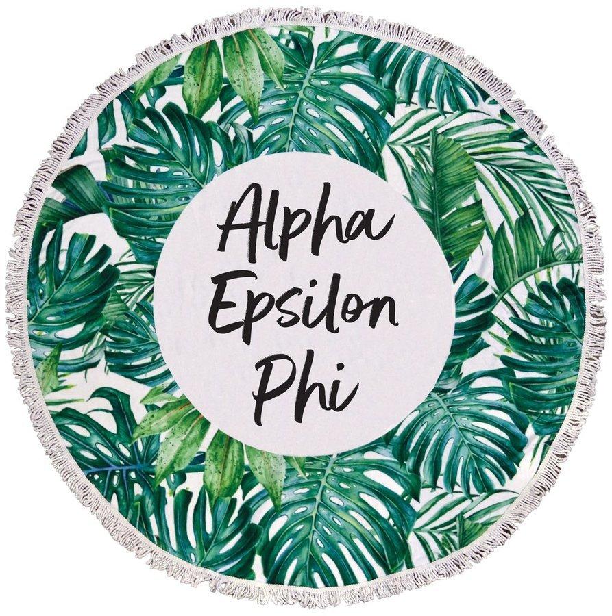 Alpha Epsilon Phi Palm Leaf Fringe Towel Blanket