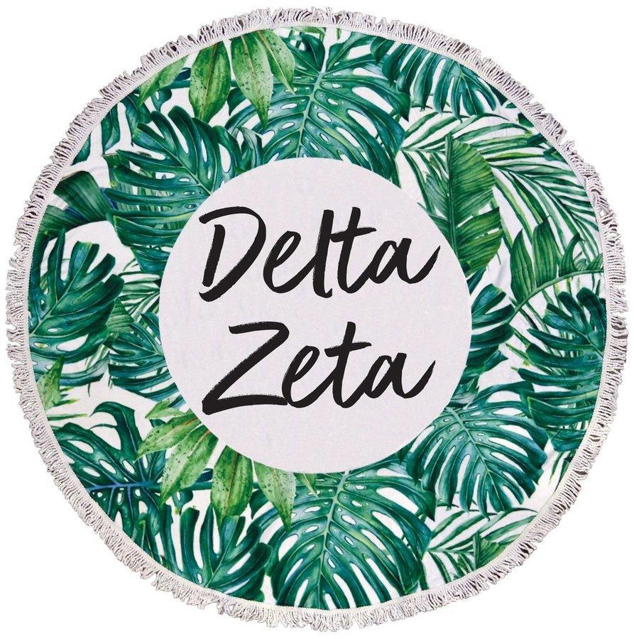 Delta Zeta Palm Leaf Fringe Towel Blanket